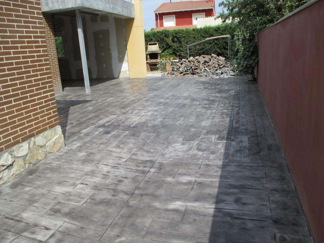 Pavimento Impreso En 1 Cm De Espesor
